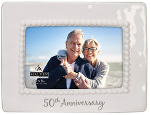 50th Anniversary Ceramic Bead Malden Picture Frame