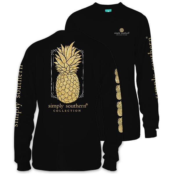 Simply Southern Pineapple Long Sleeve T-Shirt