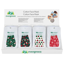 Load image into Gallery viewer, Holiday Face Masks by Evergreen
