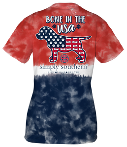 Bone Tie Dye Simply Southern Short Sleeve T-Shirt
