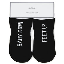 Load image into Gallery viewer, Baby Down Feet Up Novelty Ankle Socks