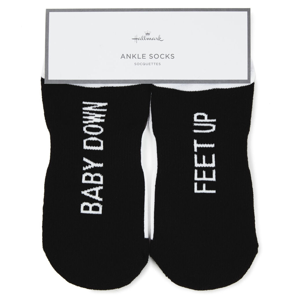 Baby Down Feet Up Novelty Ankle Socks