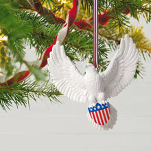 Load image into Gallery viewer, Brave and Free Bald Eagle Porcelain Ornament