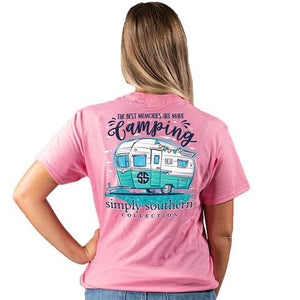 Best Memories are made Camping Simply Southern T-Shirt