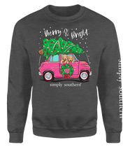 Load image into Gallery viewer, SWEATSHIRT- MERRY & BRIGHT SIMPLY SOUTHERN