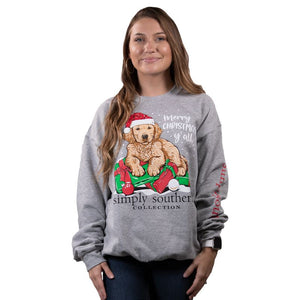 SWEATSHIRT- MERRY CHRISTMAS YALL SIMPLY SOUTHERN