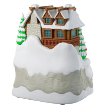 Load image into Gallery viewer, Christmas Cabin Musical Ornament With Light and Motion