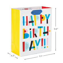 "Load image into Gallery viewer, 9.6"" Colorful Happy Birthday Gift Bag"