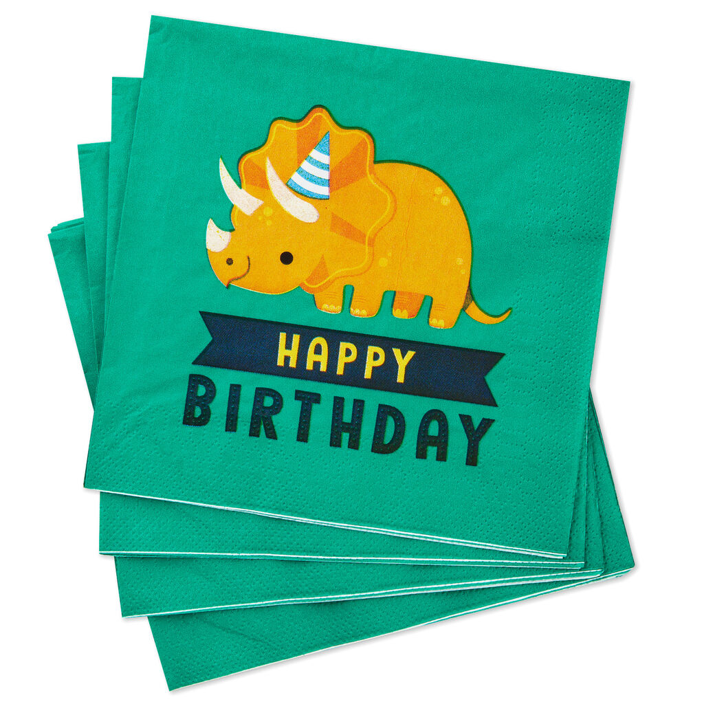 Dinosaur Happy Birthday Luncheon Napkins, Pack of 20