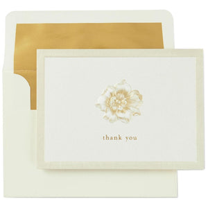 Embossed Flower Thank You Notes, Box of 10