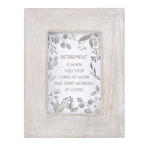 "Retirement is when...7"" x 9"" Terra Photo Frame"