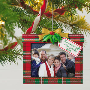 Family's the Greatest Gift 2020 Photo Frame Ornament