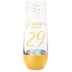 Forever 29 Champagne Glass, 8.7 oz.
