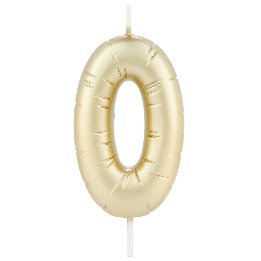 Gold Number Party Balloon Birthday Candles --Sold Individually