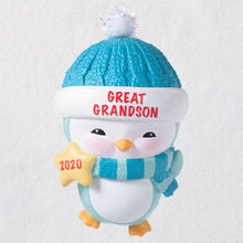Load image into Gallery viewer, Great-Grandson Penguin 2020 Ornament