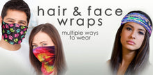 Load image into Gallery viewer, Paw Print Face Cover/Hair Wrap