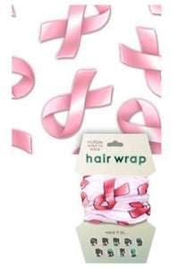 Pink Ribbon Face Cover / Hair Wrap