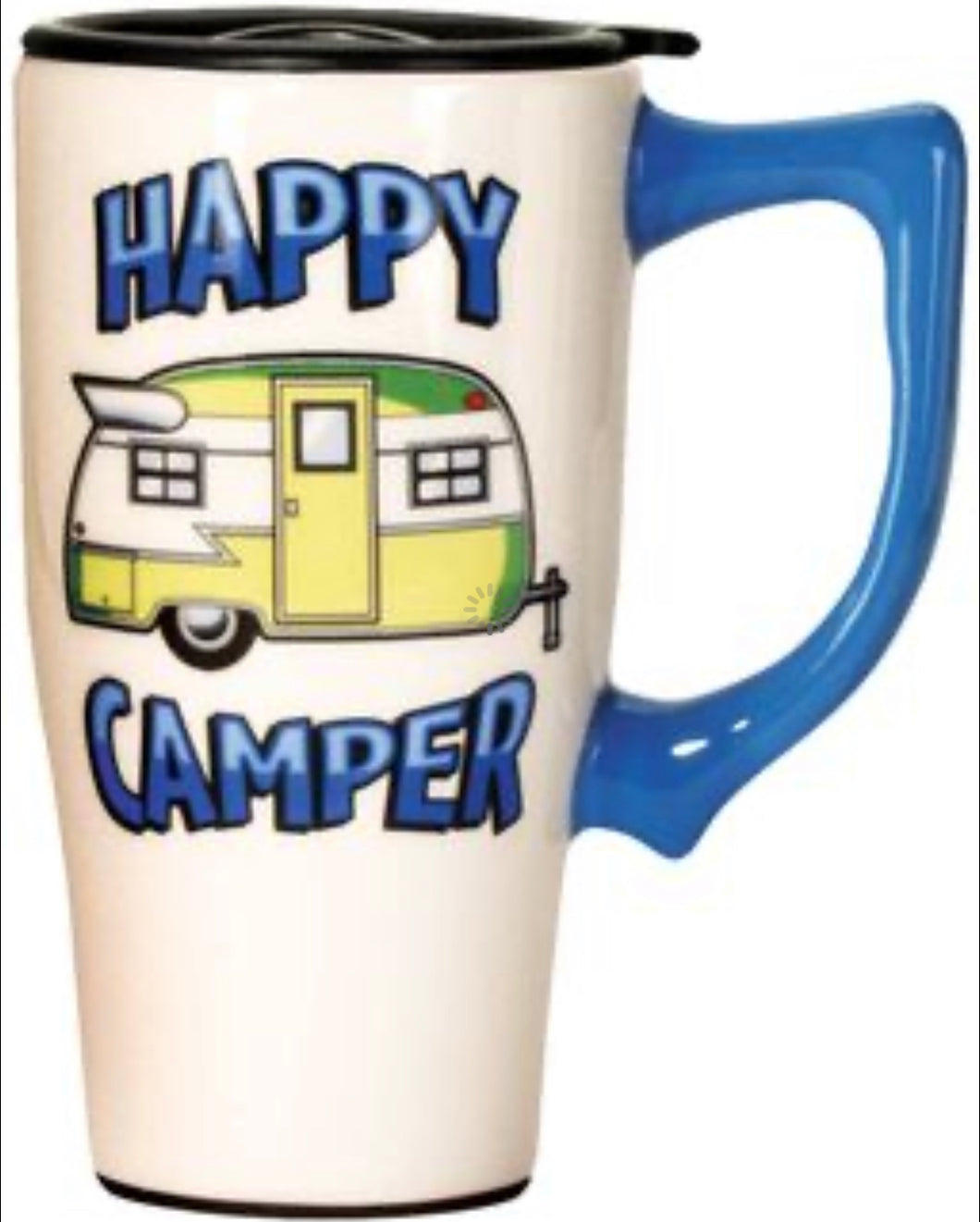 Happy Camper Ceramic Travel Mug
