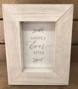 Happily Ever After Framed Sentiment Plaque