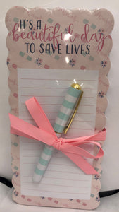 Nurse Note Pad & Pen Set