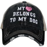 KATYDID MY HEART BELONGS TO MY DOG TRUCKER HAT