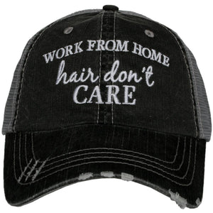 WORK FROM HOME HAIR TRUCKER HATS