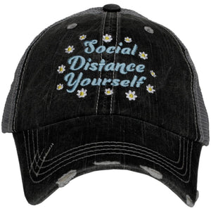 SOCIAL DISTANCE YOURSELF TRUCKER HATS