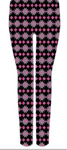 LEGGINGS Simply Soft Simply Southern AZTEC NAVY