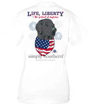 "Load image into Gallery viewer, Simply Southern Short Sleeve T Shirt  ""Life, Liberty & the Pursuit of Happiness"""