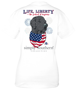"Simply Southern Short Sleeve T Shirt  ""Life, Liberty & the Pursuit of Happiness"""