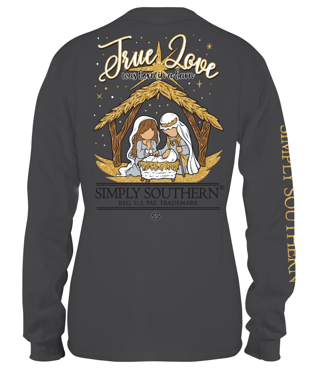 Long Sleeve TRUE LOVE WAS BORN IN A BARN Iron Simply Southern