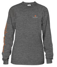 Load image into Gallery viewer, Long Sleeve HEY BOO Simply Southern Dark Heather Gray Shirt