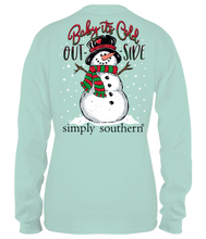 Load image into Gallery viewer, Simply Southern SNOWMAN BABY IT'S COLD OUT- SIDE Long Sleeve T-Shirt