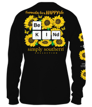 Load image into Gallery viewer, Long Sleeve BE KIND SUNFLOWERS