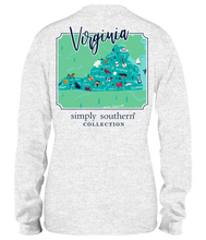 Load image into Gallery viewer, Simply Southern LS VIRGINIA Block Letters TShirt
