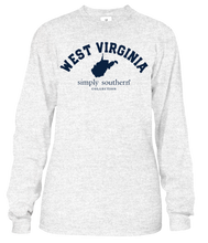 Load image into Gallery viewer, Simply Southern LS WEST VIRGINIA Block Letters TShirt