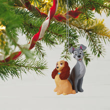 Load image into Gallery viewer, Disney Lady and the Tramp 65th Anniversary Ornament