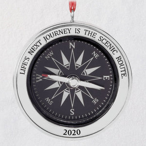 Life's Next Journey Compass 2020 Metal Ornament
