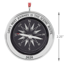 Load image into Gallery viewer, Life's Next Journey Compass 2020 Metal Ornament