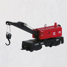 Load image into Gallery viewer, Lionel® 6560 Crane Car Metal Ornament