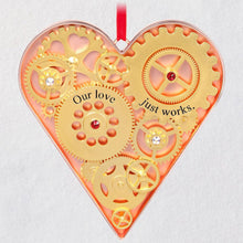 Load image into Gallery viewer, Our Love Just Works Metal Ornament