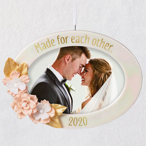 Made for Each Other 2020 Porcelain Photo Frame Ornament