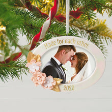Load image into Gallery viewer, Made for Each Other 2020 Porcelain Photo Frame Ornament