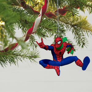 Marvel Spider-Man Slinging In the Season Ornament