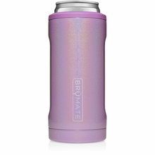 Load image into Gallery viewer, Brumate Hopsulator Slim Glitter Violet Can Holder