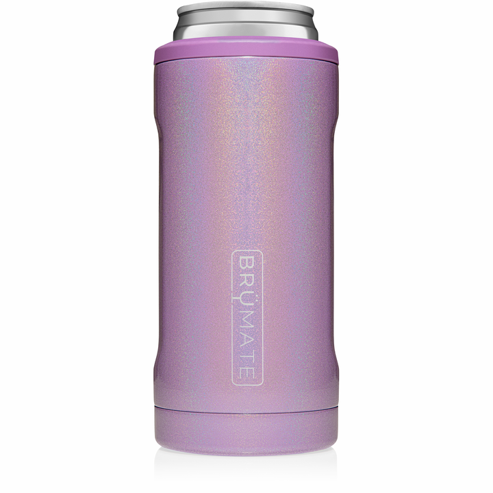 Brumate Hopsulator Slim Glitter Violet Can Holder