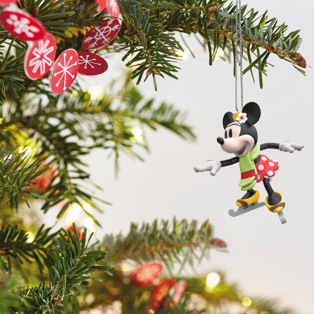 Mini Disney Minnie Mouse on Ice Ornament, 1