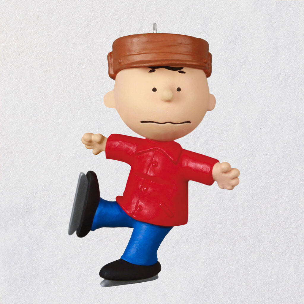 Mini The Peanuts® Gang Charlie Brown Skating Ornament, 1.15