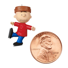Load image into Gallery viewer, Mini The Peanuts® Gang Charlie Brown Skating Ornament, 1.15""