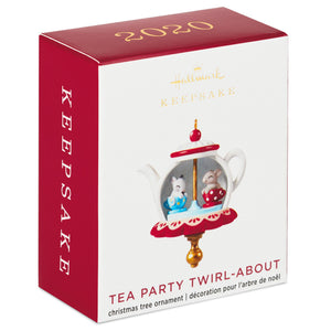 Mini Tea Party Twirl-About Ornament With Motion, 1.62""